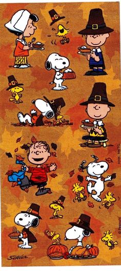 Http www ebay com itm adorable new brenda joycepeanuts gang snoopythanksgivingstickerthanksgiving