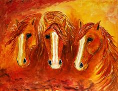 Western Equine Artist | Contemporary Abstract Western Horse Painting By Colorado Artist ...