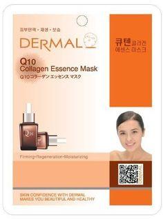 Dermal Korea Collagen Essence Full Face Facial Mask Sheet Q 10 100 Pcs 1box