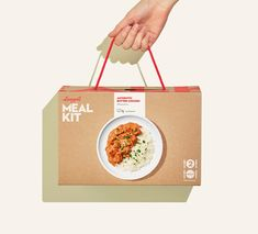 A Fresh Take on Meal Kit Packaging Helps This Brand Stand Out Food Box Packaging, Glass Packaging, Food Packaging Design, Packaging Design Inspiration, Coffee Packaging, Product Packaging, Rosen Box, Food Design, Design Design