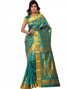 Casual Wear Green Art Silk Printed Saree