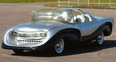 The 1957 Aurora The 1957 Aurora was an American car designed by a Catholic priest named Father Alfred Juliano. Before working for the church Father Juliano had been enrolled in art school and always dreamed of designing cars. Strange Cars, Weird Cars, Cool Cars, Aurora, Ford Falcon, Car In The World, Future Car, Car Ins, Buick