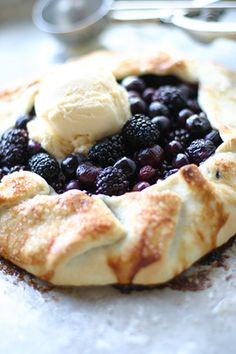 Perfectly Simple Blackberry Slab Pie