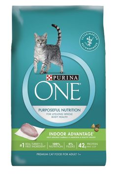 Purina ONE Indoor Advantage Dry Cat Food (7 lb. Bag - Pack of 2) ** You can find more details by visiting the image link. (This is an affiliate link and I receive a commission for the sales)