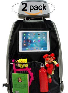 Premium Material Plenty of Storage . Can Also be Used as Stroller Organiser Parenthings Backseat Car Organiser Black