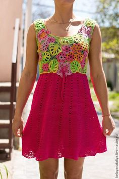 Купить или заказать Платье-сарафан 'Лето' в интернет-магазине на Ярмарке Мастеров. Летнее платье -сарафан связано из 100% хлопка и микрофибры . Лиф связан ирландским кружевом из хлопка, юбка- кружевное полотно из микрофибры. Линия талии немного завышена. Яркое,лёгкое платье для отдыха и повседневное. Приятно одеть в жаркую погоду ажурное, прохладное платье!