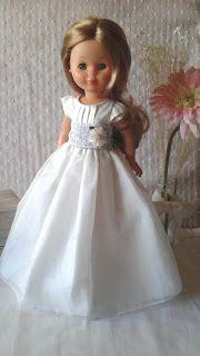 Vestidos Para Nancy de Chus Garcia: Comuniones 2017.!!! Girl Doll Clothes, Doll Clothes Patterns, Clothing Patterns, Girl Dolls, Our Generation Doll Clothes, Nancy Doll, Ballerina Party, Bride Dolls, Wellie Wishers