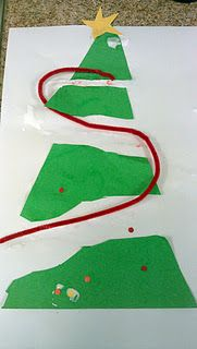 Fine Motor Christmas Tree - Pinned by @PediaStaff – Please visit http://ht.ly/63sNt for all (hundreds of) our pediatric therapy pins