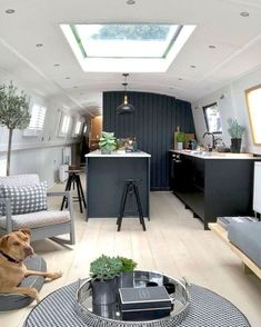 Examples of Couples Refurbishing Old Skoolie Conversion Interiors Tiny House Movement // Tiny Living // Skoolie Conversion // School Bus Conversion // School Bus Living // Tiny Home // Architecture // Home Decor Campervan Interior, Rv Interior, Interior Design, Interior Ideas, Trailer Interior, Canal Boat Interior, Barge Interior, Bohemian Interior, Modern Bohemian