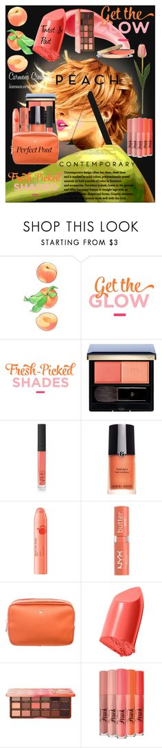"""Journi's ""Get The Glow Fresh Picked Shades Beauty Ad"""" by carmen-ireland ❤ liked on Polyvore featuring beauty, Armour, Clé de Peau Beauté, NARS Cosmetics, Giorgio Armani, Revlon, NYX, Tom Ford, Bobbi Brown Cosmetics and Too Faced Cosmetics"