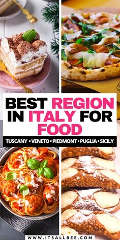 An Italian Food Guide. The best food in Italy to eat by region. Amazing Cities in Italy for food not to miss out on. Pasta, pizza, gelato, tiramisu, wines. Siena, Puglia, Florence, Naples and more. #Italy #Foodie #Cities #Itsallbeefood | Italian Food Guide | Italian Restaurants | Italy Travel | Where to eat in Italy | Italy Foodie Guide | Things to do in Italy | Italian Food | Italy Itinerary | Best Restaurants in Italya | #ItalyTrip  #ItalyTravel #ItalyGuide #ItalianFood Italy Travel Tips, Europe Travel Guide, Travelling Europe, Travel Destinations, Things To Do In Italy, Cities In Italy, Best Street Food, Italian Recipes, Italian Foods