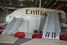 Photo Tour of Emirates Airline Crew Training in Dubai - AirlineReporter Emirates Cabin Crew, Emirates Airline, Plane Design, Flight Attendant, Training, Tours, Pilot, Time Warp, Passion
