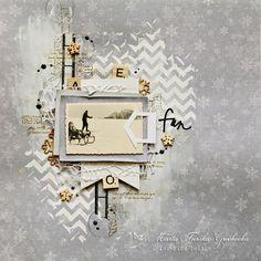 Witajcie! Jeszcze trochę zimy na koniec lata :) Layout dla Pion Design z kolekcji Greetings from the North Pole. Hello! A ...