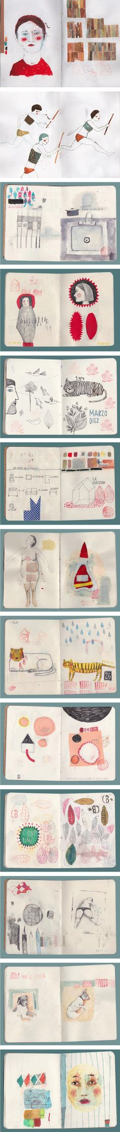 The beautiful sketchbook of Carolina Bernal http://madebywolf.com/blog/post/the-sketchbook-of-carolina-bernal