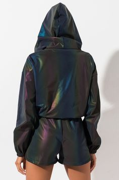 AKIRA Label Rainbow Reflective Sweatshirt in Rainbow Multi Look Festival, Festival Wear, Casual Outfits, Fashion Outfits, Sport Fashion, Music Festival Outfits, Modern Fashion, Fashion Design, Athleisure Outfits