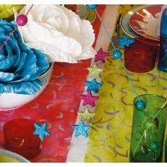 Etoile pailletée turquoise 4 cm les 12