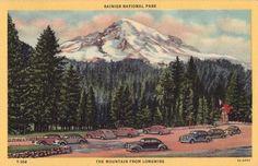 Vintage Washington State Postcard  Mount Rainier by VintagePlum