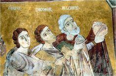 Oratorio di San Pellegrino - Bominaco (AQ) storie di Cristo, i re Magi.