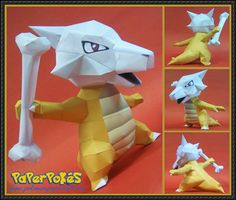 Pokemon - Marowak Ver.2 Free Papercraft Download - http://www.papercraftsquare.com/pokemon-marowak-ver-2-free-papercraft-download.html