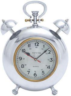 "Bayden Hill Alum Clock 12""H, 10""W"
