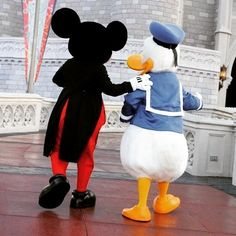 Mickey & Donald heading their way back to Cinderella Castle