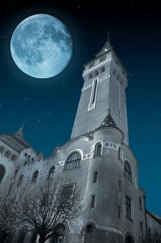 Moon Attraction Photo by Raul Georgescu on Fivehundredpx Targu Mures in the night. more with healing sounds: Beautiful Moon, Beautiful Places, Simply Beautiful, Places Around The World, Around The Worlds, Transylvania Romania, Visit Romania, Romania Travel, Bucharest