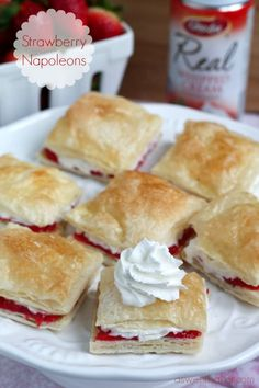 Strawberry Napoleons | A Sweet Baker
