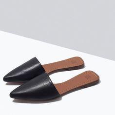 Zara flat mules