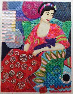 It's not your Grandmother's Needlepoint: Foreground, background and everything in between