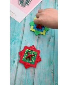 Instruções Origami, Useful Origami, Paper Crafts Origami, Diy Paper, Oragami, Origami Videos, Easy Origami For Kids, Origami Paper Folding, Paper Crafts For Kids