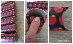 Paper towel and toilet paper rolls wrapped in gift wrap are a great way to gift small items like stocking stuffers