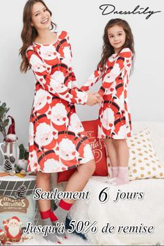 361da7c879f15 Robe de pyjama de Noël imprimée pour le père Noël  enfant  dresslily  noel   christmas  pijama