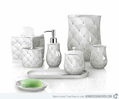 Tridimensional Diamond Patterns Adds Luxury Porcelain Bathroom Accessories (WBC0634A)