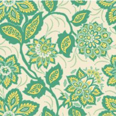 Joel Dewberry - Heirloom Home Dec - Ornate Floral in Jade. And this could be made into pillows!!