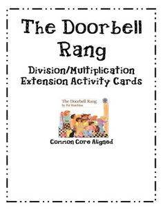 This third grade common core aligned activity focuses on the correlation between multiplication and division. After reading the book, The Doorbell Rang, students can use these cookie counters and task cards to reinforce multiplication and division concepts.  Task cards use vocabulary such as grouping, arrays, number bonds, factors, and quotient.  Activity comes with printable cookie counters, 12 task cards, and a recording sheet.
