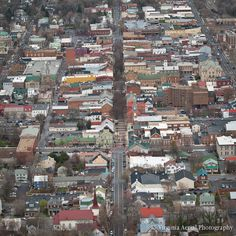 Old Town Winchester, Virginia from the air