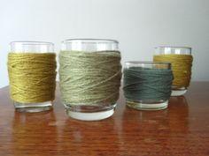 yarn wrapped votives