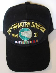 104TH INFANTRY DIVISION  WW II VETERAN EUROPE W/ CAMPAIGN RIBBON BALL CAP/HAT #MILPRO #BallCap