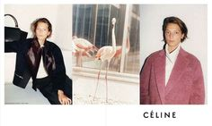 Daria Werbowy photographed by Juergen Teller for Celine Campaigns 2012