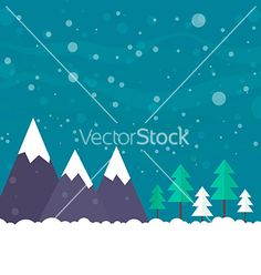 Christmas card vector winter landscape by Favete on VectorStock®