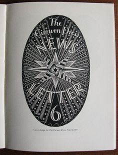 "Cover design form the ""Curwen Press Newsletter, issue 6"" by Eric Ravilious, in 'Signature 1', 1935"