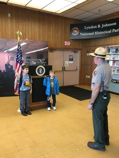 The Carful of Kids take the Junior Ranger oath and promise to explore, learn and protect our national treasures.