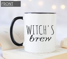 Witch's brew spooky custom mug for Halloween and Book Lovers Gifts, Book Gifts, Gifts In A Mug, Customized Gifts, Personalized Gifts, Literary Gifts, Witches Brew, Handmade Design, Custom Mugs