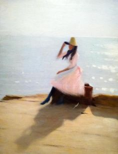 Young Woman on the Beach - 1886 - Painting by Philip Wilson Steer (British, 1860-1942) - Musée d'Orsay Paris - @~ Mlle