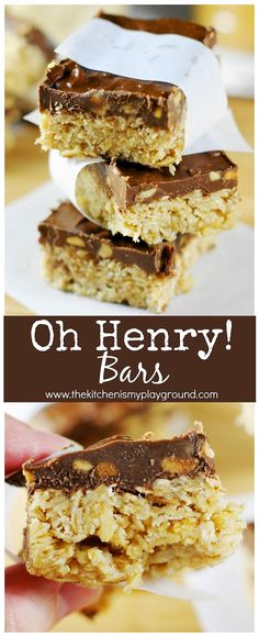 Homemade Oh Henry! Bars photo