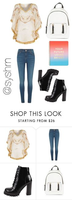 """""""Untitled #620"""" by syshrn ❤ liked on Polyvore featuring ELIZABETH HURLEY beach, River Island, Jeffrey Campbell, New Look and ban.do"""