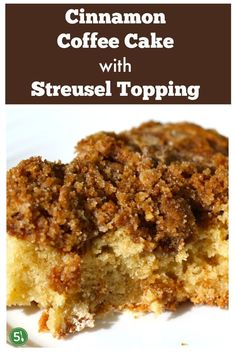 Cinnamon Coffee Cake that is buttery, moist, and has the most delicious streusel crumb topping in the whole world. The focus is extra streusel topping! Cake Recipes, Dessert Recipes, Dessert Ideas, Bread Recipes, Cinnamon Coffee, Cinnamon Recipes, Streusel Topping, Silver Spoons, Sweet Bread