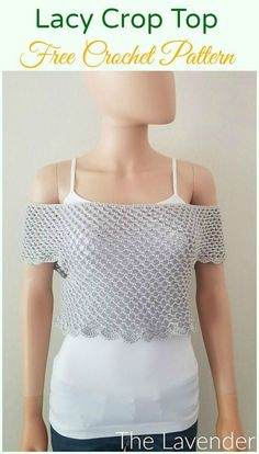 Crochet Women Summer Crop Top Free Patterns