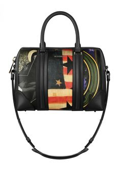 48ef909ea5eb Givenchy Prints on Coated Canvas with Black Nappa Trim Lucrezia Medium Bag