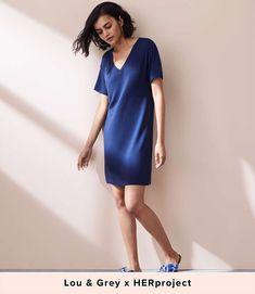 Lou & Grey Signaturesoft V-Neck Tee Dress | LOFT